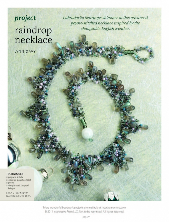 Схемы: Колье Raindrop Necklace. Best of Beadwork 10
