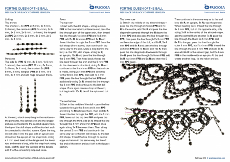 Схемы: Колье а ля Милен Фармер/  Black Costume Jewelry for the Queen of the Ball